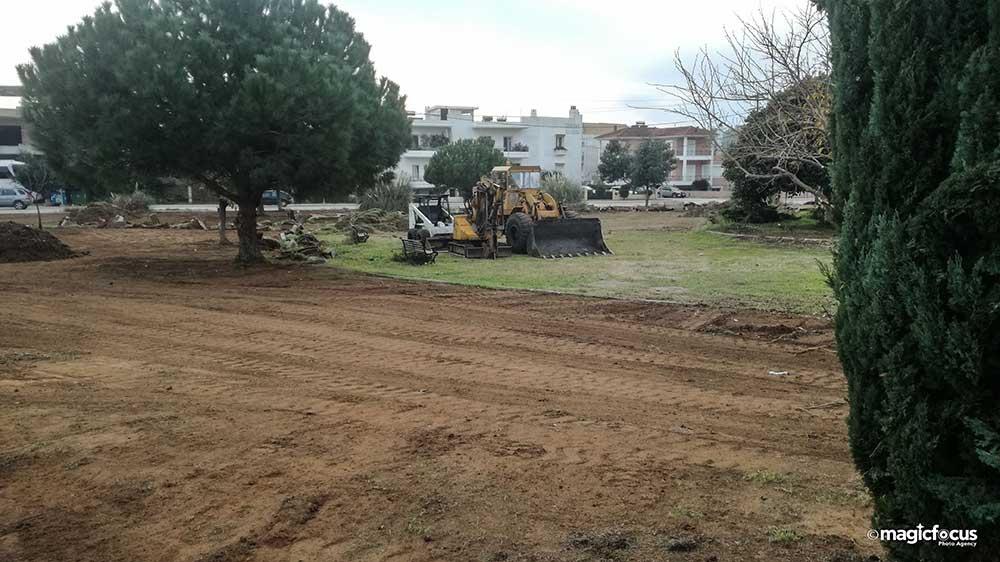 Πρέβεζα: Ξεκίνησαν οι εργασίες ανάπλασης στο Πάρκο Δημοκρατίας